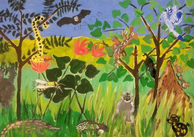 2nd Grade- Animal Mural