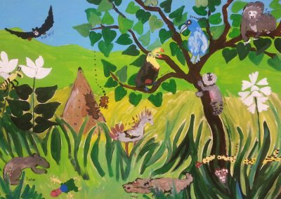 Brazilian rain forest mural 2015 - 2nd Grade