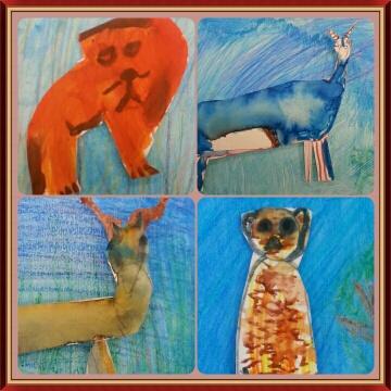First grade Animal Mural