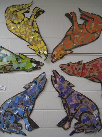 Mosaic coyotes